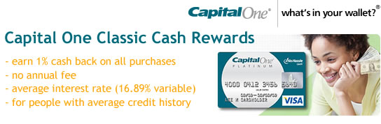Capital One No Hassle Cash Rewards Credit Card