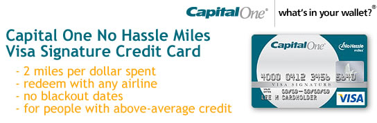 Capital One No Hassle Miles Platinum Visa Signature