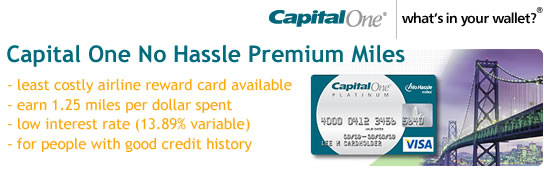Capital One No Hassle Premium Miles Rewards Credit Card