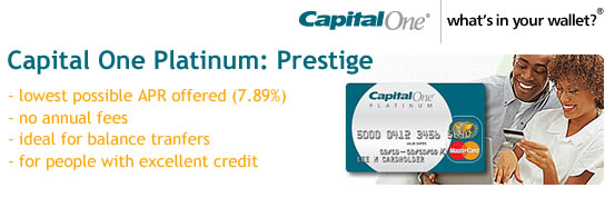 Capital One Platinum Prestige Credit Card