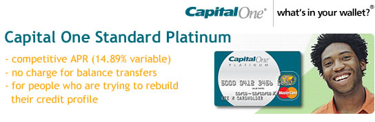 Capital One Standard Platinum Credit Card